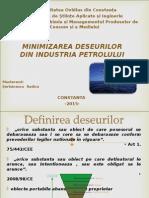 Minimizarea Deseurilor Din Industria Petrolului