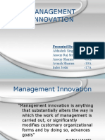 Hrm managent innovation
