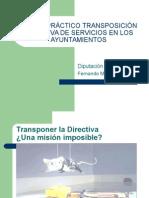 Taller Práctico Transposición Directiva de Servicios en Los