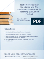 idaho core teacher standards and the danielson framework final