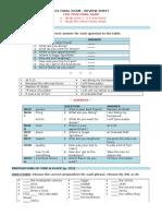 Grammar Review Sheet