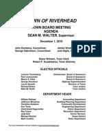 Riverhead Town Board Agenda, Dec. 1, 2015