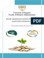 Islamic Microfinance System and Poverty Alleviation in Somaliland