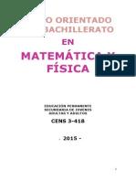 Bachillerato en Matemática y Física Para Educación Permanente de Jóvenes y Adultos