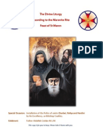 Maronite Mass of St Maron