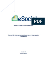 Manual ESocial Empregador Domestico 1 Versao 1.1