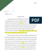 progression i revised essay
