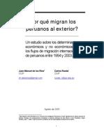 Por qué migran los peruanos al exterior