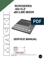ServiceManual Mackie 1402-Vlz