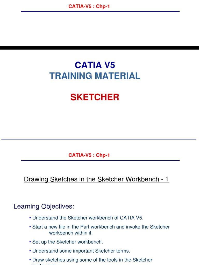 Catia Training Material | Circle | Extrusion