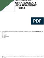 DISCUSIÓN DE ANATOMÍA BASICA Y APLICADA USAMEDIC 2014