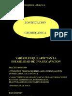 Zonificación Geomecánica