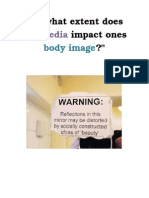 critical thinking- body image unit