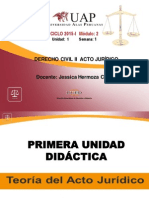 Teoría Del Acto y Negocio Jurídico