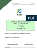 Instrucciones Tecnicas y Planos Para Redes de Saneamiento