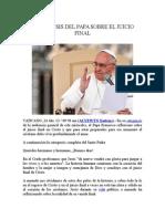 Catequesis Del Papa Sobre El Juicio Final
