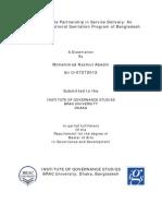 Public Private Partnership in Service Delivery
