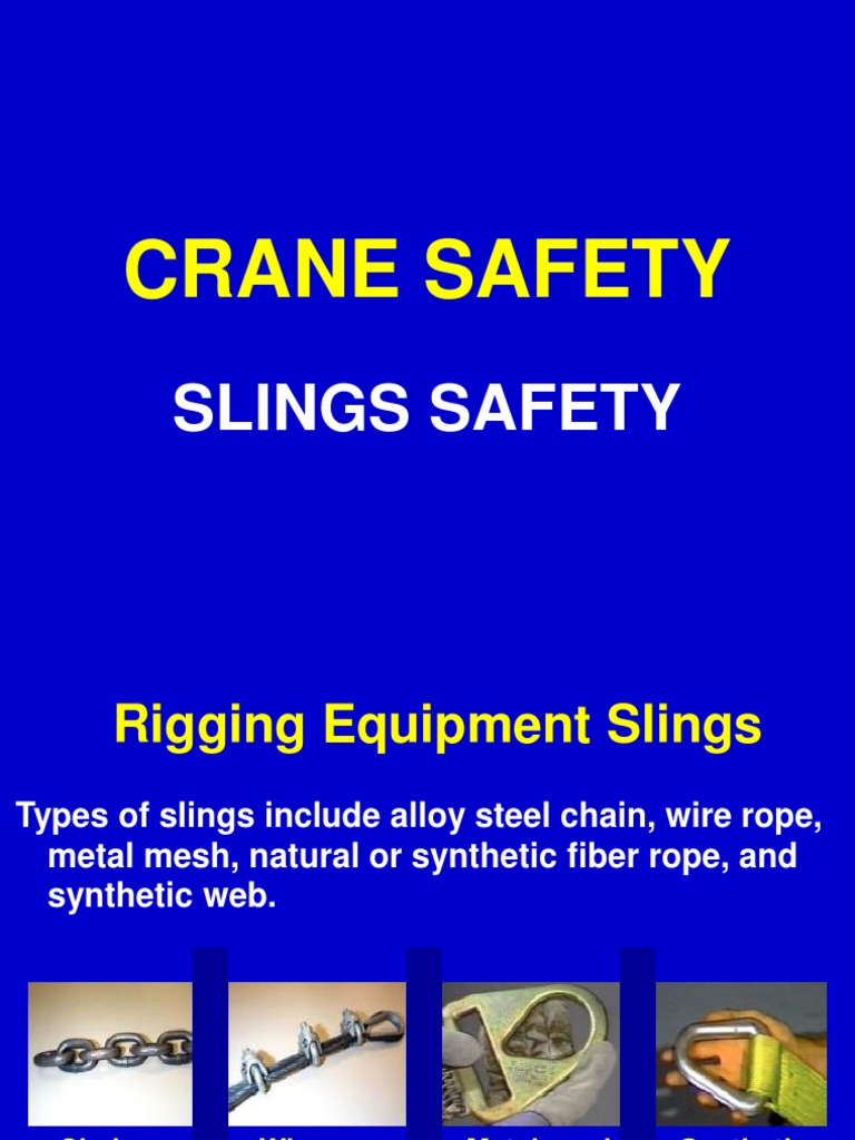 C 6 Slings Safety   Rope   Wire