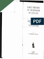 Early History of Buddhism in Ceylon - E W Adikaram