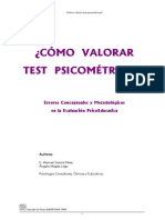 Como Valorar Test Psicometricos