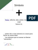 Símbolos y significados de operaciones basicas