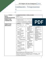 Unità di Apprendimento evaporazione ed ebollizione classe 5