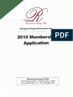 Rosemont Membership Application