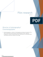 my film research