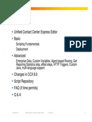 CCX Scripting v2 | Email | Hypertext Transfer Protocol