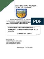 COHERENCIA, COHESIÓN, CONECTORES.doc