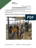 Informe de Capacitación de Seguridad y Salud Laboral