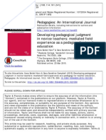 Developing Pedagogical Judgment in Novice Teachers_mediated Field Experience as a Pedagogy for Teacher Education