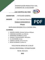 Monografí Neoplasias Benignas en La Cavidad Oral