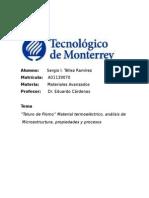 Investigación final Teluro de Plomo - ITESM