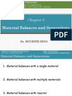 Chapter 3. Material Balances and Separations (1)