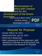 Brazos Promenade presentation to Waco City Council