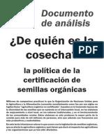 138 de Quien Es La Cosecha La Politica de La Certificacion de Semillas Organicas