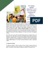La Glorificacion Del Llamado Trabajo Infantil Domestico en El Peru