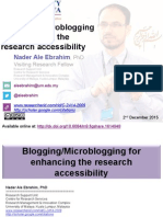 Blogging/Microblogging for enhancing the research accessibility
