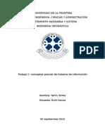 Informe de Sistema de informaacion