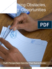 Overcoming Obstacles, Creating Opportunities - Burma Report 2008