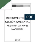 Instrumentos de Gestión Ambiental Regional a Nivel Nacional