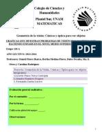 Proyecto de Matematicas Geometría de La Visión Cónicas y Óptica Para Ver Objetos