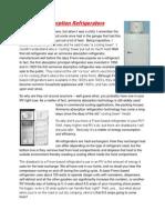 Ammonia Absorption Refrigerators