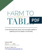 business plan farm2partytable