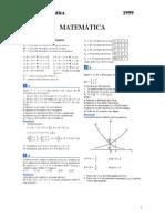 ITA 1999 Matematica