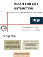 12. a Program for City Reconstruction i0613010 Dini & i0613009 Devy