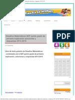 Desafíos Matemáticos SEP Quinto Grado de Primaria Explicación Soluciones y Respuestas 2015 2016 Bimestre 1