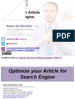 Optimize your Article for Search Engine