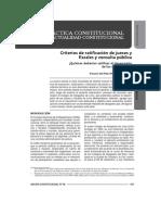 Criterios de Ratificación de Jueces y Fiscales y Consulta Pública_quiénes Deberían Calificar El Desempeño de Los Magistrados